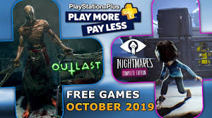 PS PLUS October 2019 FREE PS4 Games ...