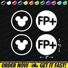 Disney Mickey Head Fastpass Circle Set 2 X2 Vinyl Decal Bumper Window Sticker Ebay