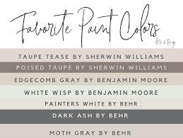 master list neutral paint colors
