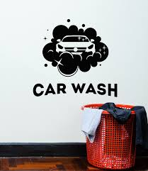 Vinyl Wall Decal Water Clean Car Wash Auto Garage Service Stickers Mur Wallstickers4you
