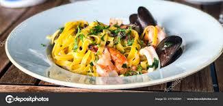 Fresh Seafood Pasta Vongole Mix Seafood ...