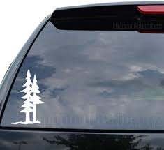 Amazon Com Diamondcutstickerz Pine Trees Forest Mountain Decal Sticker Car Truck Motorcycle Window Ipad Laptop Wall Decor Size 05 Inch 13 Cm Tall Color Matte White Home Improvement
