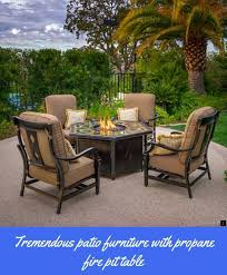 gas fire pit table and chairs set
