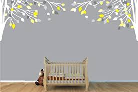 Amazon Com Childrens Wall Decals Vinyl Yellow And Gray Tree Wall Decal Tree Branch Wall Decal Toys Games