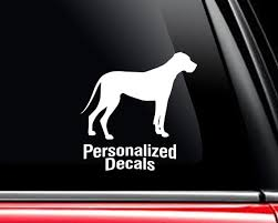 Great Dane Vinyl Window Decals Make A Decal Online W Decal Etsy