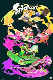 Amazon Com Pyramid America Splatoon Character Stack Nintendo Cool Wall Decor Art Print Poster 12x18 Posters Prints