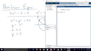 solve nar equations with matlab