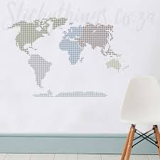 Cm Stylish D Black World Map Wall Sticker For Room Independence