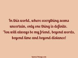 time and beyond distance friendship quotes image