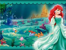 Princesa Ariel Con Vestido Verde Ariel La Sirenita Princesa