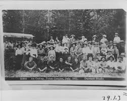 An outing- Teton Canyon- Jury 1911. Rula and Irma Wilson right of ...