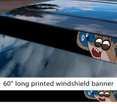 Buy 60 Cartoon Regular V2 Mordecai Rigby Rick Morty Sun Strip Printed Windshield Car Vinyl Sticker Decal