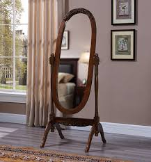 ms004 oval mirror stand solidwood frame