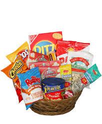 salty snacks basket gift basket in