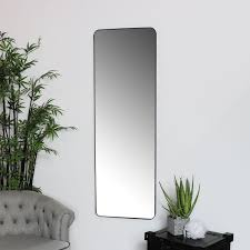 wall mirror floor leaner metal frame