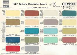 1957 chevy color chips car paint