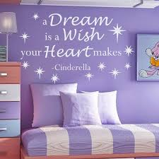 Shop Cinderella Quote A Dream Is A Wish Your Heart Makes Vinyl Sticker Interior Mural Nursery Sticker Decal Size 22x30 Color Black Free Shipping On Orders Over 45 Overstock 14776763