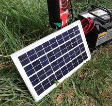 Weatherproof Solar Panel 12v Battery Charger Electric Fence Horse Energizer Ebay