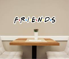 Friends Font Wall Decal Removable Fabric Vinyl Friends Tv Show Wall St Decalbaby