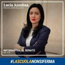 Scuola: Senato, diretta streaming Ministro Lucia Azzolina