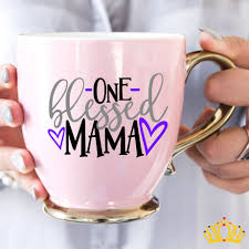 One Blessed Mama Vinyl Decal Mom Decal Cars Mom Decals For Yeti Mom Decals For Cups Mom Yeti Stickers Cup Decal Yeti Decals Vinyl Decals