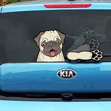 Amazon Com Pugly Pug Rescue Dog Waving Wipertags With Decal For Rear Vehicle Wipers Arts Crafts Sewing