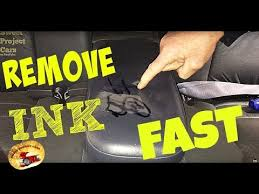 how to remove ink on leather or cloth
