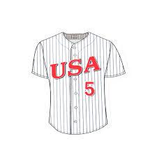 92 Pinstripe Jersey Decal Usa Baseball Shop