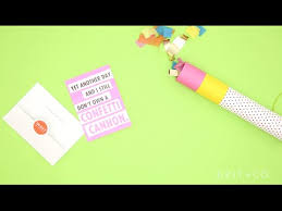 how to diy a confetti cannon you