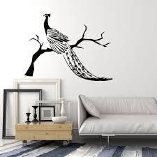 Vinyl Wall Decal Peacock Beautiful Bird Amazing Fabulous Feathers Stic Wallstickers4you