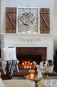 neutral and simple fall mantel home