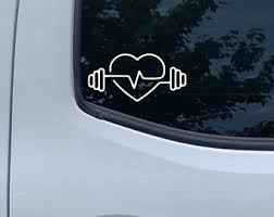 Weightlifting Decal Etsy