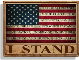 Amazon Com I Stand Usa Rustic Flag Sticker Decal Pledge Of Allegiance Car Truck Cup Laptop Bumper Window Arts Crafts Sewing