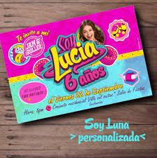 Invitacion Personalizada Digital Soy Luna Comparte O Imprime