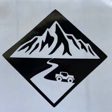 Mountain Decal Jeep Decal Roadtrip Decal Adventure Etsy