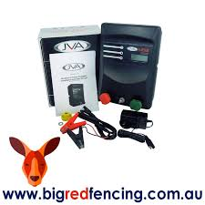 Jva Mb8 80km Mains Or Battery Powered Electric Fence Ip Energizer 8 Joule Big Red Fencing