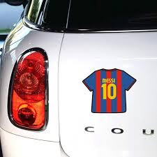 3 Pc Soccer Team Famous Messi 10 Of Barcelona Glue Sticker Car Decal Covers Argentine Lionel Messi Auto Wish