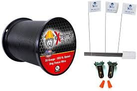 For Use With Any Brand Or Model Of Underground Electric Dog Fence System 20 Gauge Universally Compatible Electric Dog Fence Wiring Installation Kit W 2 Waterproof Splices And 50 Training Flags Awg