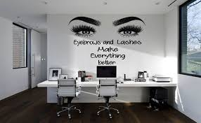 Wall Decal Eyelashes Decal Eyebrows Decal Lashes Decal Beauty Etsy