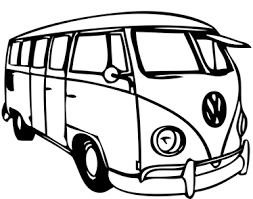 Volkswagen Bus Car Sticker Tenstickers