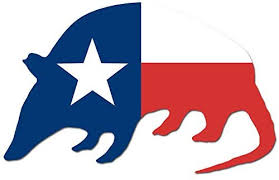 Amazon Com Magnet 3x5 5 Inch Armadillo Shaped Texas Flag Sticker Decal Lone Shape State Texan Magnetic Vinyl Bumper Sticker Sticks To Any Metal Fridge Car Signs Kitchen Dining
