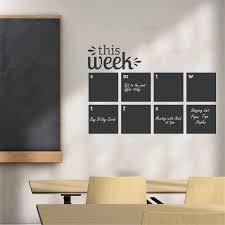 This Week Memo Vinyl Wall Sticker Office Classroom Decor Blackboard Calendar Design Wall Poster Reusable Vinyl Wall Decal Wall Stickers Aliexpress