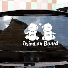 Car Sticker Decals Car Vehicle Twins Baby On Board For Automotive Vinyl Stickers For Cars Styling Car Stickers Aliexpress