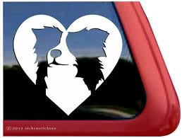 Love Border Collie Vinyl Window Auto Decal Sticker Border Collie Fan Club