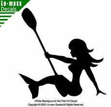 Paddle Mermaid Kayaking River Sports Ocean Sea Whitewater Die Cut Vinyl Decal Ebay