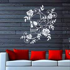 Shop Dangerous Flowers Roses Blossom Art Skull Vinyl Decal Sticker Wall Decor Nursery Room Decor Sticker Decal Size 22x22 Color Black Overstock 14757917