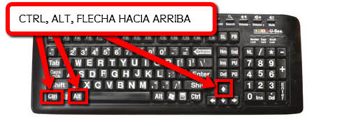 "Image result for ctrl + alt + flecha derecha"""