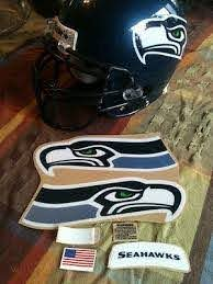 1 Set 6 Pcs Seattle Seahawks Schutt Helmet Decals Stickers Rare Sparkle Decal 328676360