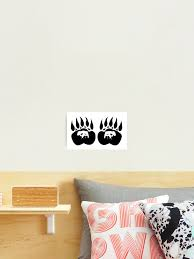 Bear Paw Tracks Photographic Print By Project2020 Redbubble