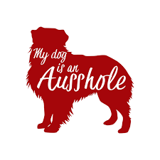 My Dog Is An Ausshole Decal Sticker Australian Shepherd Etsy In 2020 Computer Decal Vinyl Decal Stickers Cup Decal